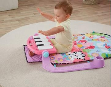 $38.99 Fisher-Price Kick and Play Piano Gym, Pink