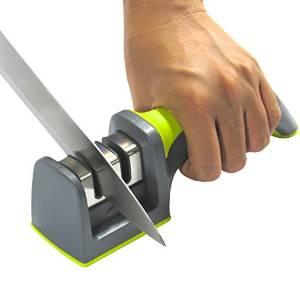 $5.05 Kitchen Knife Sharpener - 2 Stage Sharpening System - 100% Unconditional Guarantee