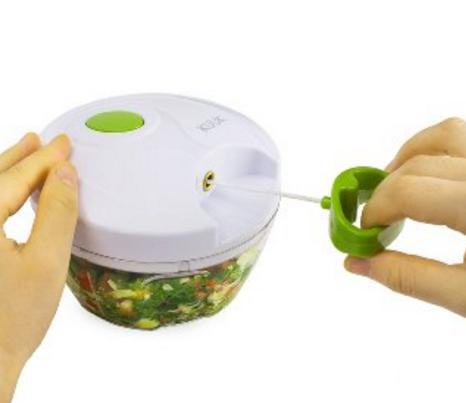 $5.05 Kuuk Mini Pull Chopper Food Processor - Vegetable, Fruit, Garlic and Herb Slicer