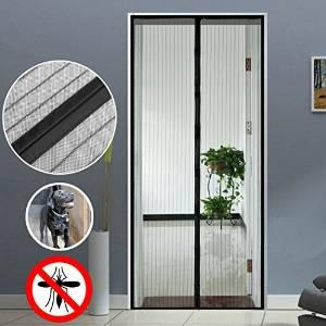 Homdox-DF Magnetic Mesh Screen Door for Patio, Fits Door Up to 32 inch width 80 inch tall