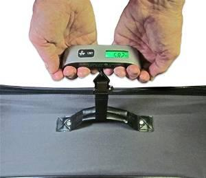 Luggageman Digital Portable Luggage Scale with Backlight/110 lb Capacity/Tare & Temperature Functions