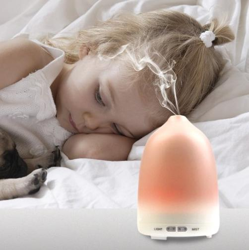 $8.99 Essential Oil Diffuser,Holan 120ml Ultrasonic Cool Mist Humidifier / Aroma Diffuser with Adjustable Mist Mode