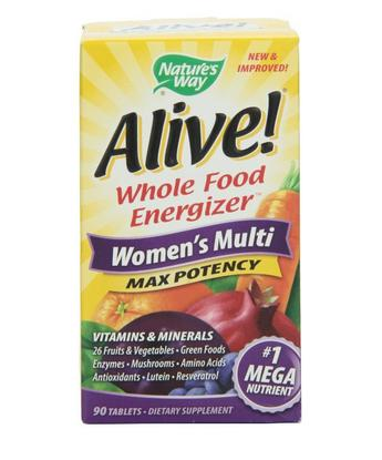 $10.58 Nature's Way Alive Women's Multi Maximum Potency, 90 Tablets