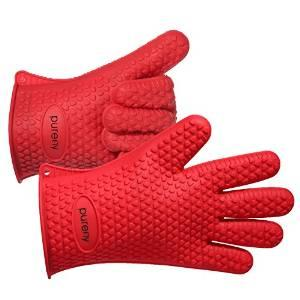 PUREFLY Silicone Heat Resistant Gloves Grilling BBQ Gloves for Cooking, Baking, Smoking & Potholder Oven Mitts
