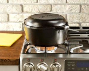 $31.49 Lodge L8DD3 Double Dutch Oven and Casserole with Skillet Cover, 5-Quart