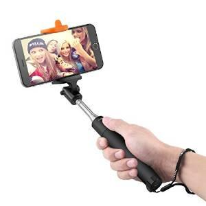 Selfie Stick, AUKEY Wireless Bluetooth Selfie Stick with Built-in Bluetooth Remote Shutter for iPhone 6, Samsung, iOS, Android