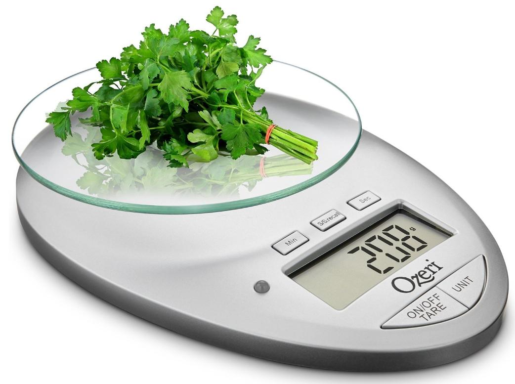 Ozeri Pro II Digital Kitchen Scale in Elegant Chrome, 1g to 12 lbs Capacity, with Countdown Kitchen Timer