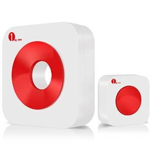 1byone Easy Chime Premium Portable Waterproof Wireless Doorbell Kit, with CD Quality Sound
