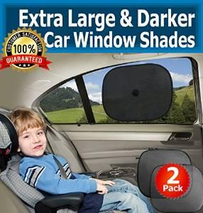 Car Window Sun Shades - Darkest Sunshade for Side Windows in Cars