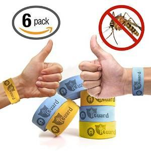 iGuard Band All Natural Mosquito Repellent Bracelets - Six (6) Pack