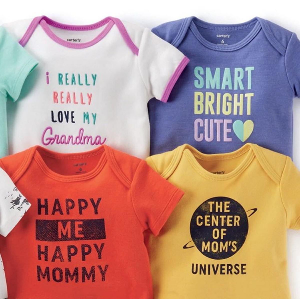 From $5 Graphic Bodysuits, Boys Tees or Shorts @ Carter's