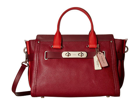 COACH Color Block Swagger Carryall