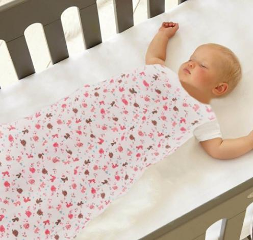 ilovebaby Sleeping Sack 90cm Length 100% Cotton Anti Kick Elephant Graphics Large for Baby (Pink)