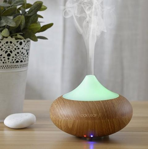 Essential Oil Diffuser Electric,Oak Leaf 140ML Aromatherapy Cool Mist Humidifier and Air Ultrasonic Humidifier