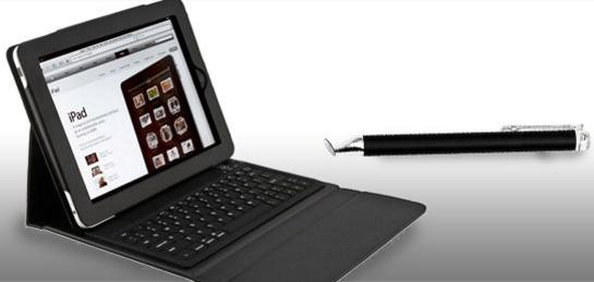 Bluetooth Keyboard For iPad & Stylus Touch Pen ($95 Value)