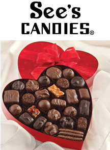 See's Candy Valentine's Day Gifts!Starts from $4.90 + shipping.