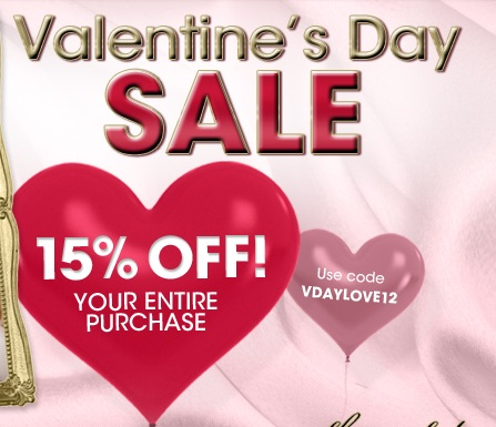 15% OFFToo Faced Valentine's Day Sale