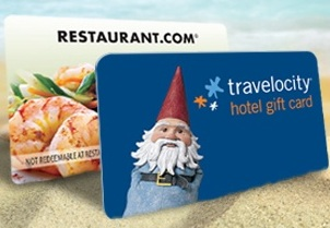 $50 Travelocity Hotel eGift Card + $100 Restaurant.com eGift Card