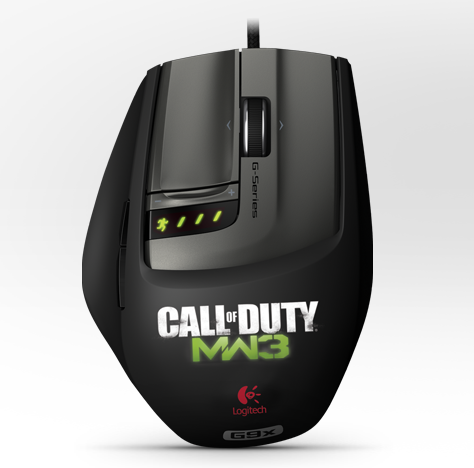 Logitech Laser Mouse G9X: Made for Call of Duty® - Dented box