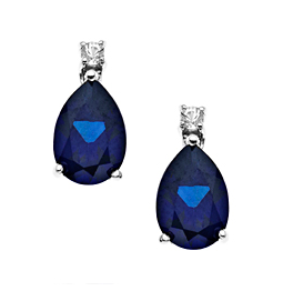 $39 3 ct Ceylon and White Sapphire Earrings in Sterling Silver
