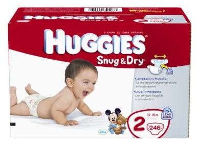 $33.29 246 Huggies Snug & Dry Size 2 Diapers