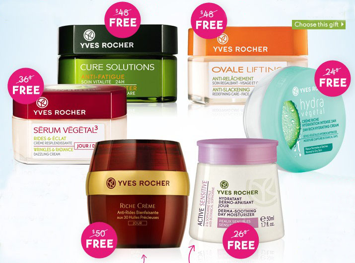 Free Skin Care Giftwith any order @ Yves Rocher
