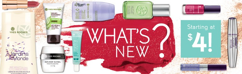Starting at $4100+ new products @ Yves Rocher