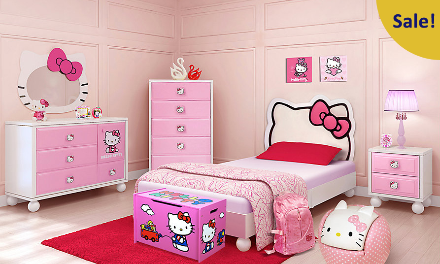 Bedroom Sets At Rooms To Go $575 hello kitty twin bedroom set @ rooms to go - dealmoon