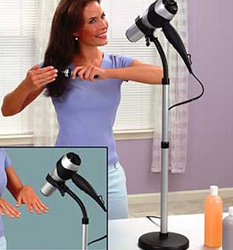 $13Adjustable Hair Dryer  Stand @ Get Organized