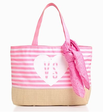 Free Ultimate Beach Tote & Scarfwith any swim order @ Victorias Secret