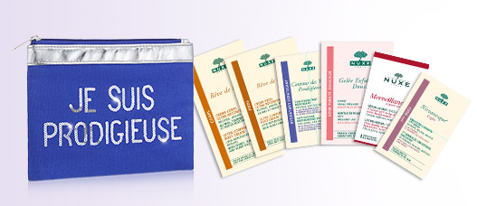 Free 6 Samples + a Pouch+ Free Shipping with Any $40 Order @ Nuxe