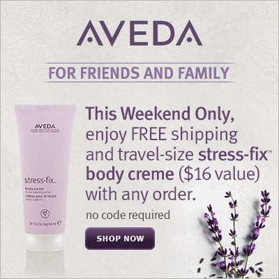 Enjoy Free Shipping and Travel-size Stress-fixTM Body Creme  with Any Order @ Aveda