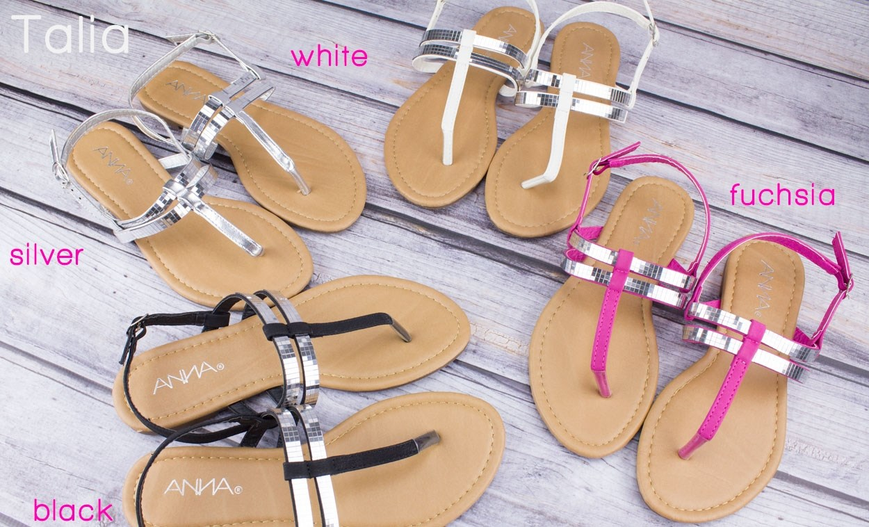 2 Styles for $8.99Beautiful Metallic Sandals @ Jane