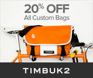 20% Off All Custom Bags @ Timbuk2