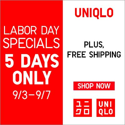 From $1.90 Labor Day Specials at Uniqlo