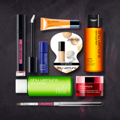 Dealmoon Exclusive: Free Portable Lip Brush+7 Piece Deluxe Sample Set with Any Purchase of $50 @ Shu Uemura