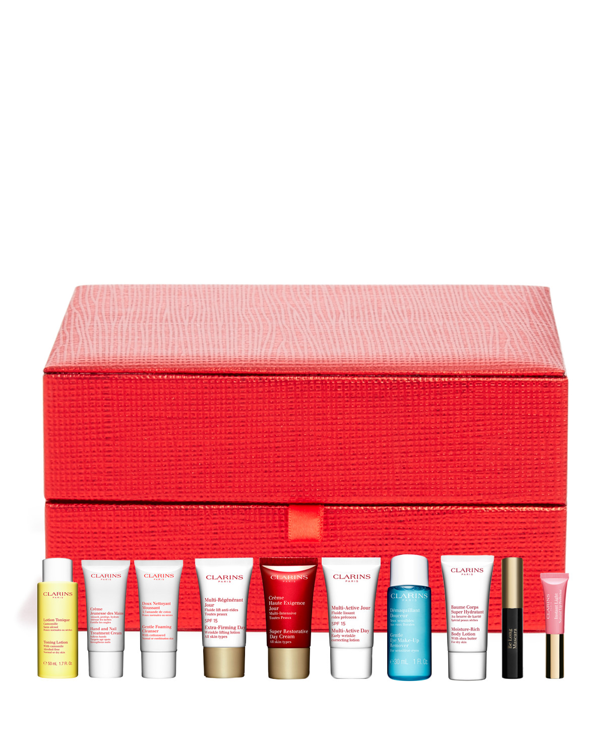 Free 4 Deluxe Samples in a Cosmetics Bag with the Purchase of Any 2 Clarins Products @ Bloomingdales