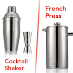 $13.99 X-Chef Premium Stainless Steel Cocktail Shaker Set w/ Jigger 24oz Martini Bar Kit