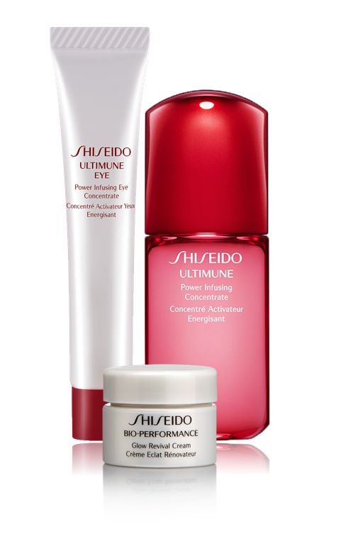 Deluxe Sample Trio($54 value) + Free Shipping With Any $50 Orders @ Shiseido