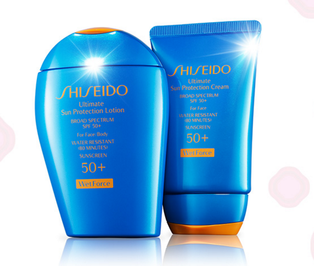 Free 2 Pc Gift with Purchase of Wetforce Cream or Lotion @ Shiseido