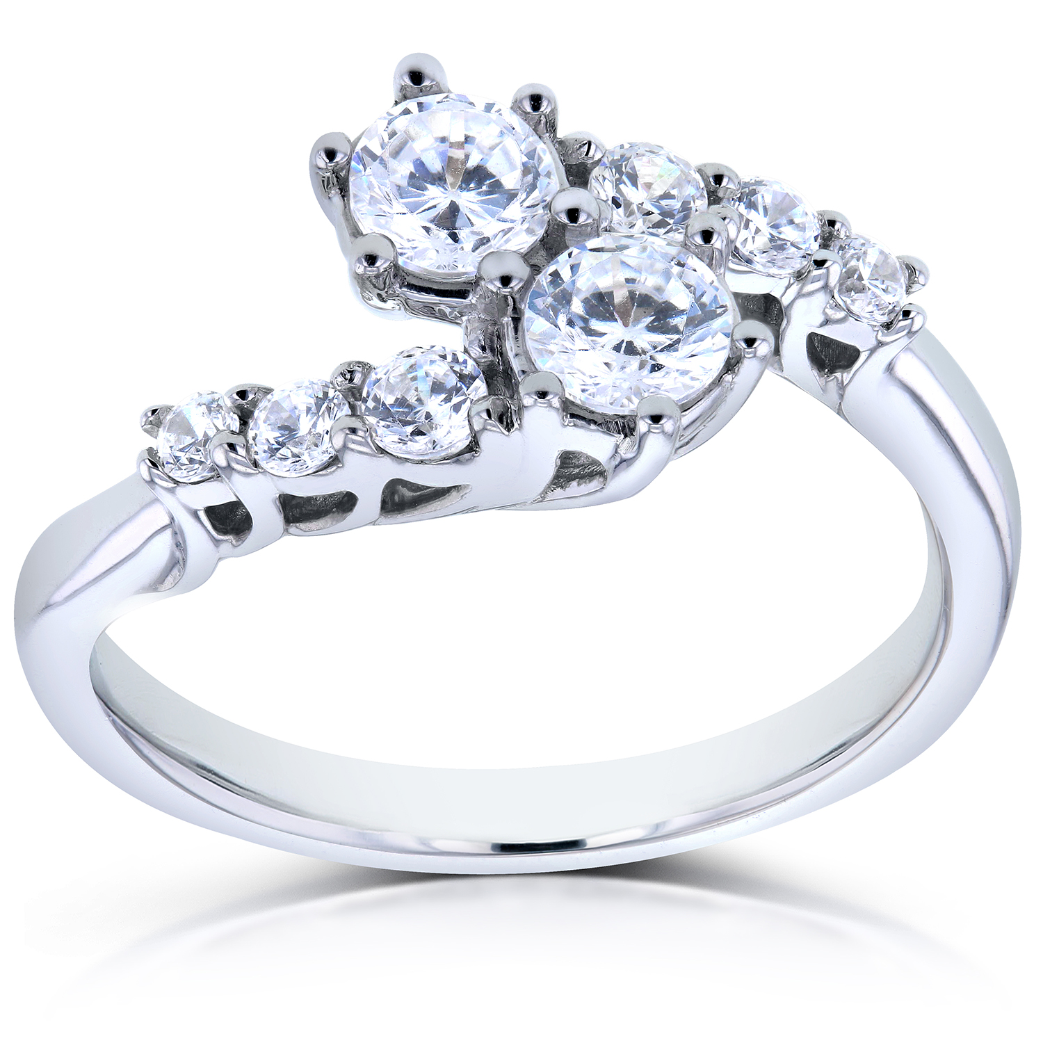 Dealmoon Exclusive ! 60% Off Double Diamond ring + 20% off sitewide AND Free Necklace When Purchase Over $750 @ Kobelli