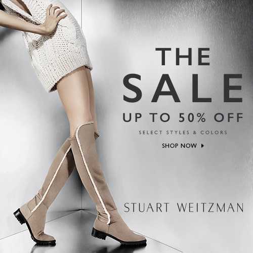 Up to 50% Off Select Styles and Colors @ Stuart Weitzman