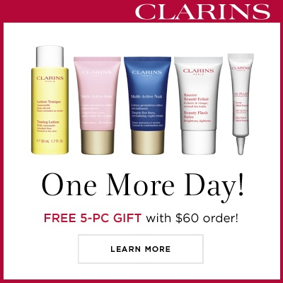 Free 5pc Gift With Any Order Over $60 @ Clarins