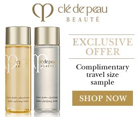 Free Travel Size Companion with Purchase of Either Hydro-Clarifying Lotion or Hydro-Softening Lotion @ Cle de Peau Beaute