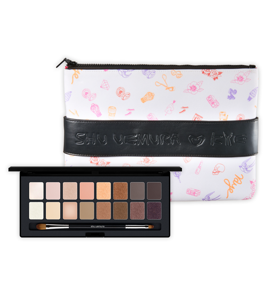 A FREE clutch bag with the Purchase of the NEW shu:palette blushing beige @Shu Uemura