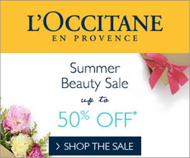 Up to 50% Off Summer Beauty Sale @ L'Occitane