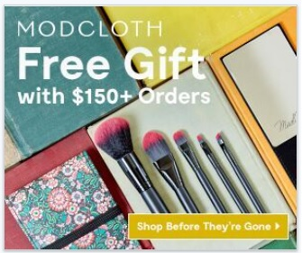 Free Mirror and Brush Set with Any Order of $150 @ Modcloth