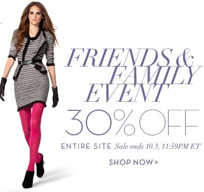 30% OFFAnne Klein Friends & Family Event: 30% off everything