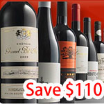 free gift($50 value) + 12-15 bottle of premium wines from top quality producers around the world