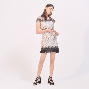 Two-Tone Lace Dress - Dresses - Sandro-paris.com